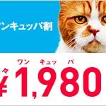 Y!mobileで6月1日から「ワンキュッパ割」を開始!新規・MNP転入で1年間毎月1000円割引に